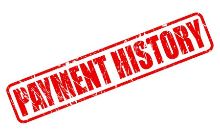 fib: PAYMENT HISTORY RED STAMP TEXT ON WHITE