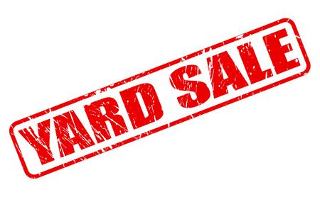 uprzejmości: Yard Sale czerwony znaczek TEKST BIEL