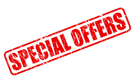 SPECIAL OFFERS RED STAMP TEXT ON WHITE