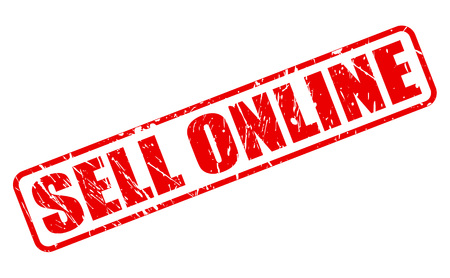 sell online: SELL ONLINE RED STAMP TEXT ON WHITE