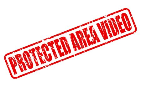 screened: PROTECTED AREA VIDEO RED STAMP TEXT ON WHITE