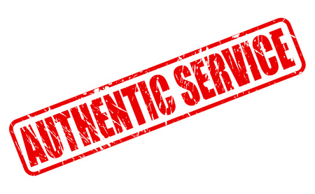 authentic: AUTHENTIC SERVICE red stamp text on white