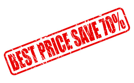 administer: BEST PRICE SAVE 70% red stamp text on white
