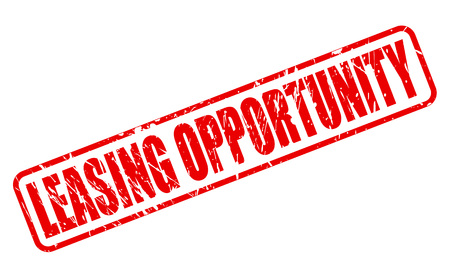 leasing: LEASING OPPORTUNITY red stamp text on white