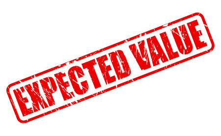 expected: EXPECTED VALUE red stamp text on white Stock Photo