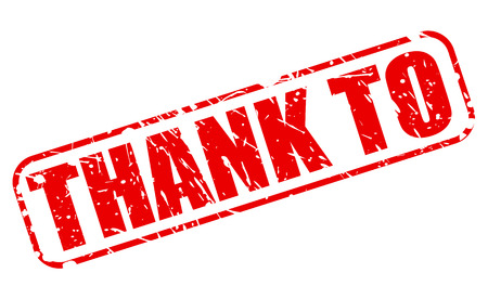 acknowledgment: THANK TO red stamp text on white