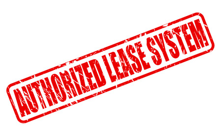 canonical: AUTHORIZED LEASE SYSTEM red stamp text on white