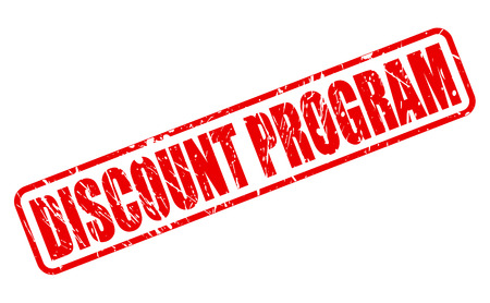 abatement: DISCOUNT PROGRAM red stamp text on white