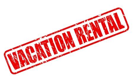 rental: VACATION RENTAL red stamp text on white
