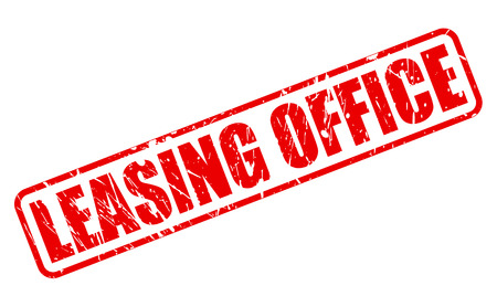 leasing: LEASING OFFICE red stamp text on white Stock Photo