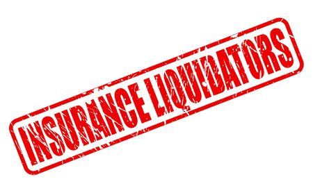 reassurance: INSURANCE LIQUIDATORS red stamp text on white