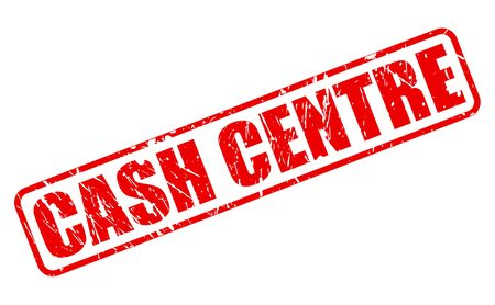 red centre: CASH CENTRE red stamp text on white