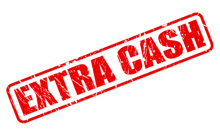 extra: EXTRA CASH red stamp text on white
