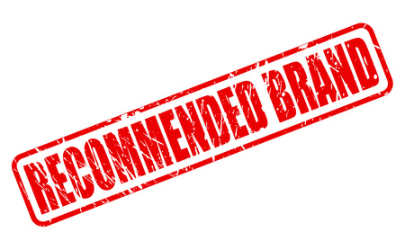 recommended: RECOMMENDED BRAND red stamp text on white
