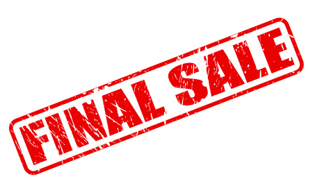 conclusive: FINAL SALE red stamp text on white Stock Photo