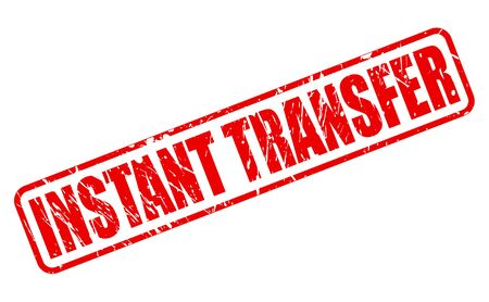 transference: INSTANT TRANSFER red stamp text on white