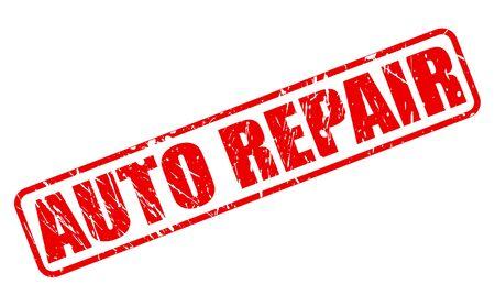 auto repair: AUTO REPAIR red stamp text on white Stock Photo