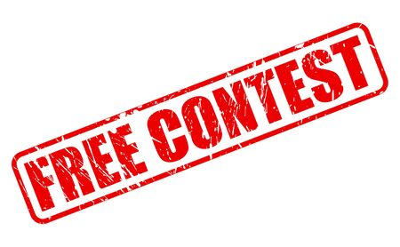concurrence: FREE CONTEST red stamp text on white