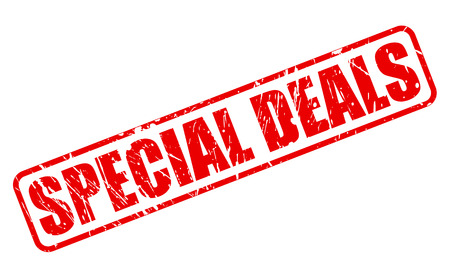 dealings: SPECIAL DEALS red stamp text on white
