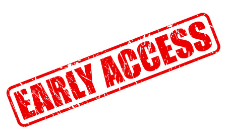 accession: EARLY ACCESS red stamp text on white