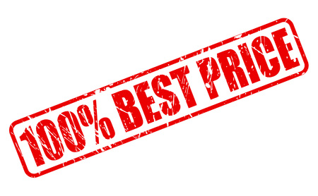 surety: 100 PERCENT BEST PRICE red stamp text on white