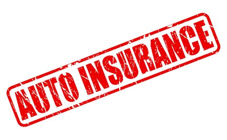 reassurance: AUTO INSURANCE red stamp text on white