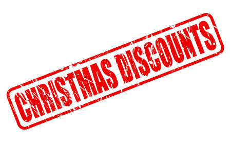 abatement: CHRISTMAS DISCOUNTS red stamp text on white