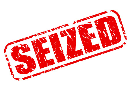 seized: SEIZED red stamp text on white Stock Photo