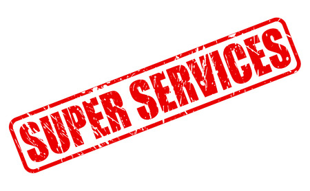 red stamp: SUPER SERVICES red stamp text on white