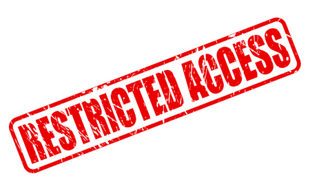 RESTRICTED ACCESS red stamp text on white Stock Photo