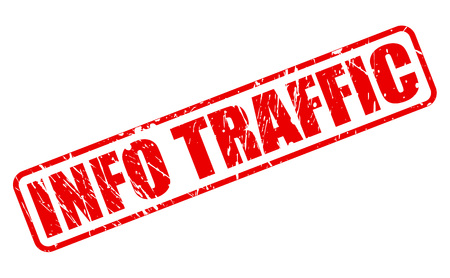 acquaintance: INFO TRAFFIC red stamp text on white