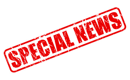 especial: SPECIAL NEWS red stamp text on white