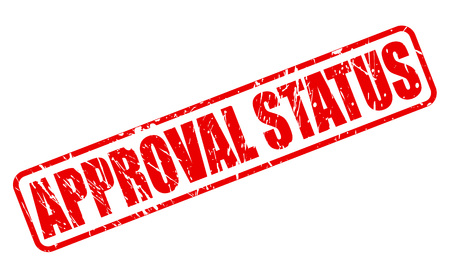approval: APPROVAL STATUS red stamp text on white