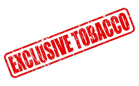 tabaco: EXCLUSIVO texto sello rojo de tabaco en blanco