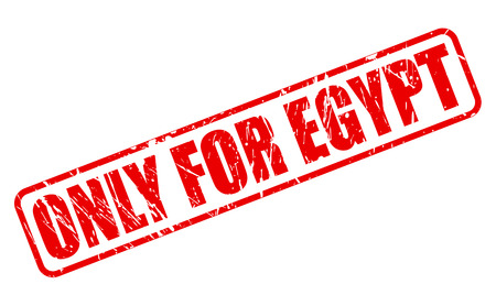 solely: ONLY FOR EGYPT red stamp text on white
