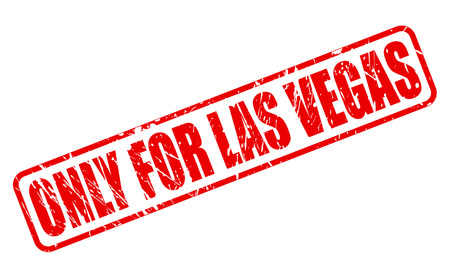purely: ONLY FOR LAS VEGAS red stamp text on white
