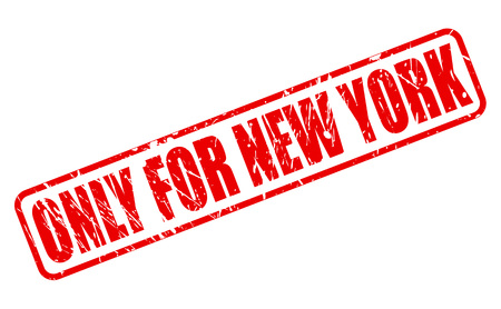 solely: ONLY FOR NEW YORK red stamp text on white