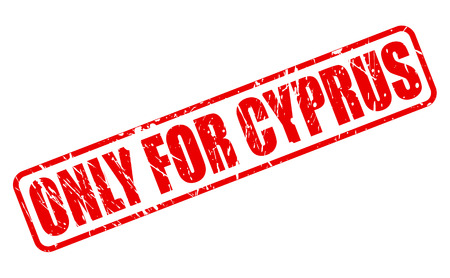 solely: ONLY FOR CYPRUS red stamp text on white Stock Photo