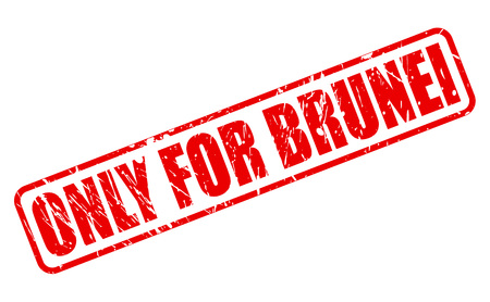 purely: ONLY FOR BRUNEI red stamp text on white