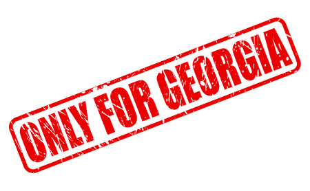solely: ONLY FOR GEORGIA red stamp text on white Stock Photo