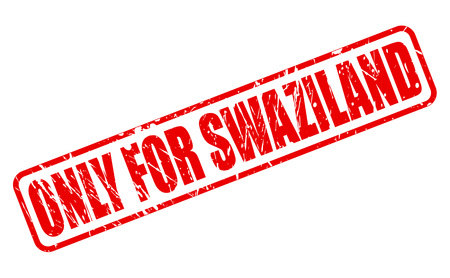 solely: ONLY FOR SWAZILAND red stamp text on white Stock Photo