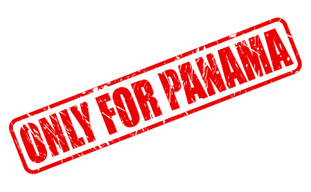 purely: ONLY FOR PANAMA red stamp text on white Stock Photo