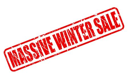 massive: MASSIVE WINTER SALE red stamp text on white Stock Photo