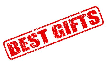 pledge: BEST GIFTS red stamp text on white