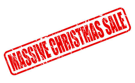 massy: MASSIVE CHRISTMAS SALE red stamp text on white Stock Photo