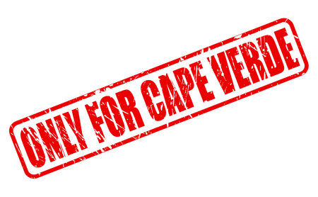 purely: ONLY FOR CAPE VERDE red stamp text on white