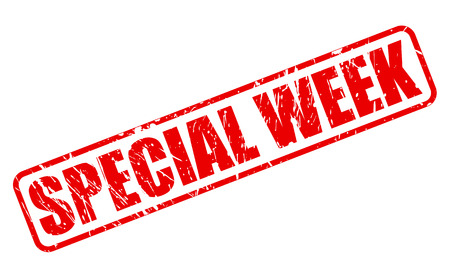 especial: SPECIAL WEEK RED STAMP TEXT ON WHITE
