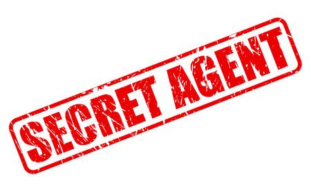 minister: SECRET AGENT RED STAMP TEXT ON WHITE