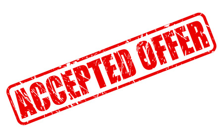 accepted: ACCEPTED OFFER RED STAMP TEXT ON WHITE