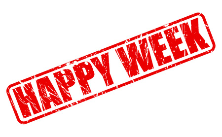blithe: HAPPY WEEK RED STAMP TEXT ON WHITE